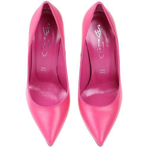Кожаные лодочки розового цвета Bianca Di, фото