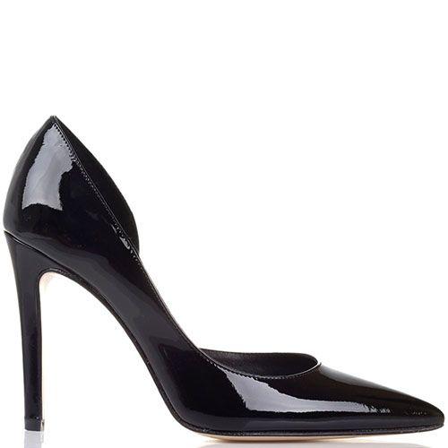 Туфли Bianca Di из черной лаковой кожи, фото