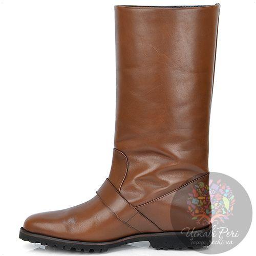 Полусапожки Pakerson зимние кожаные коричневые, фото