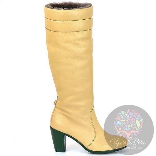 Сапоги Pakerson зимние кожаные цвета шампань, фото
