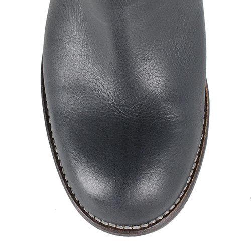 Черные кожаные сапоги U.S. Polo на устойчивом каблуке, фото
