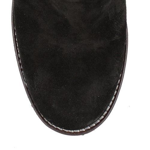 Черные замшевые сапоги U.S. Polo на устойчивом каблуке, фото