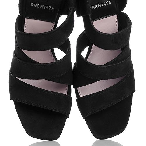Замшевые босоножки Premiata черного цвета, фото