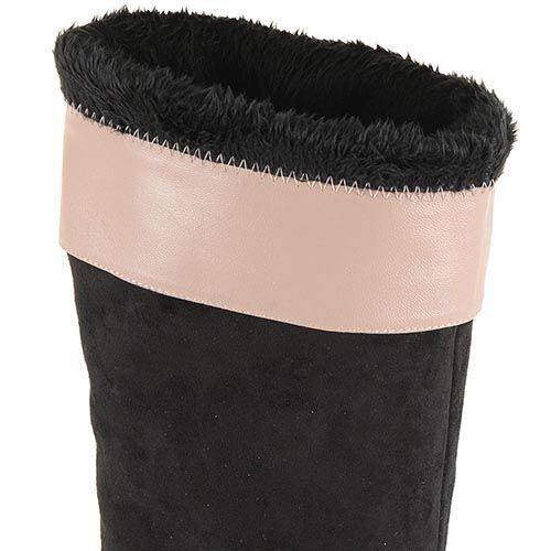Сапоги зимние Roberto Serpentini замшевые черные с натуральным мехом, фото