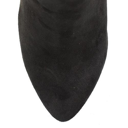 Сапоги Roberto Serpentini на шпильке замшевые черные с мехом, фото
