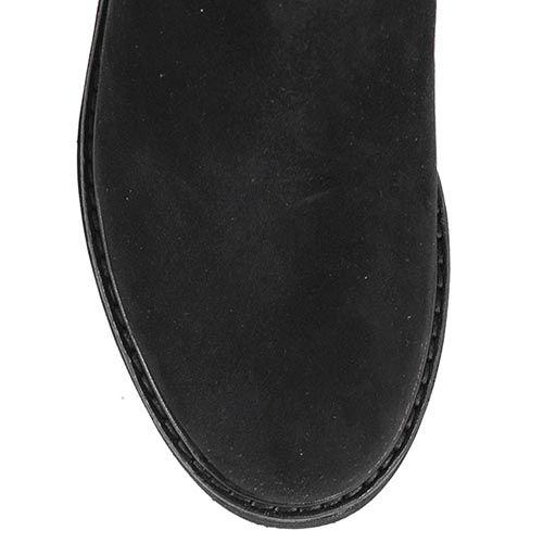 Замшевые ботинки Giorgio Fabiani со вставками-резинками и золотистой декоративной пряжкой, фото