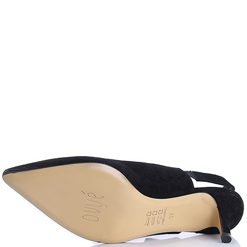 Черные туфли-слингбеки Ovye by Cristina Lucchi с декором-бантом, фото
