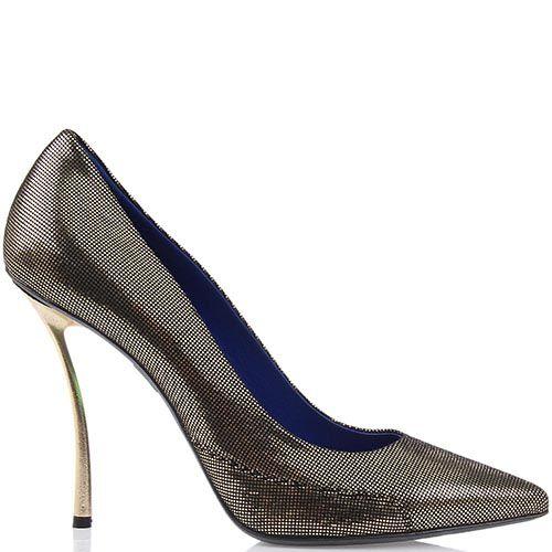 Женские туфли Raphael Young из кожи с лазерной обработкой на изогнутом каблуке-шпильке, фото