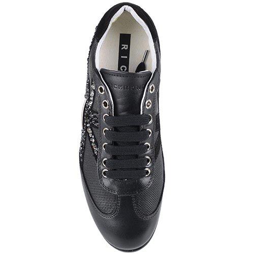 Женские кроссовки Richmond из кожи с отделкой стразами, фото