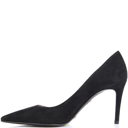 Туфли-лодочки Mascia Mandolesi черного цвета замшевые, фото