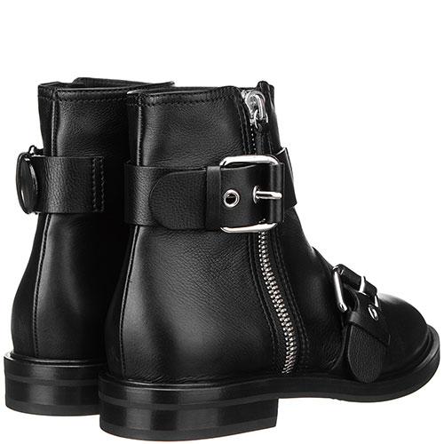 Ботинки на молнии Casadei с декором-пряжками, фото