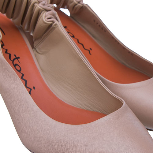 Туфли-слингбеки Santoni бежевого цвета, фото