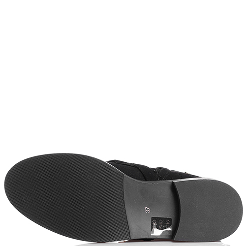 Ботинки The Seller из замши черного цвета, фото