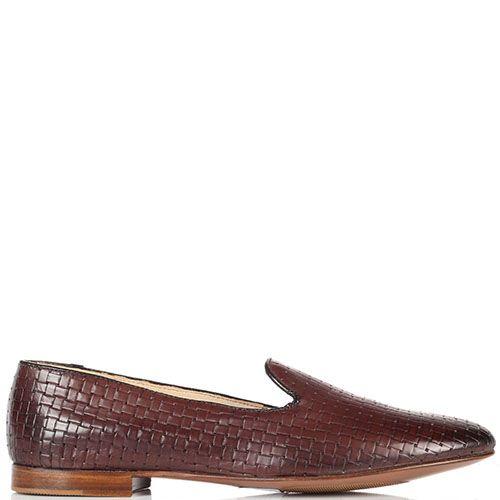 Кожаные коричневые туфли-лоферы Doucal's, фото