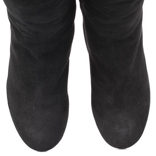 Сапоги The Seller зимние черного цвета замшевые на меху, фото