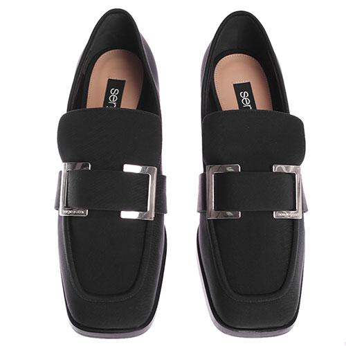 Туфли-лоферы Sergio Rossi черного цвета, фото