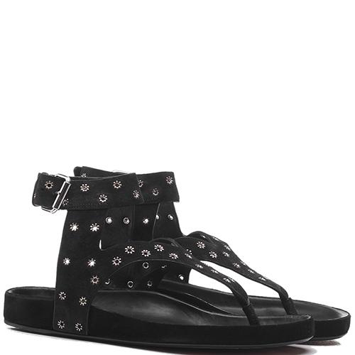 Черные сандалии Isabel Marant с декором-заклепками, фото