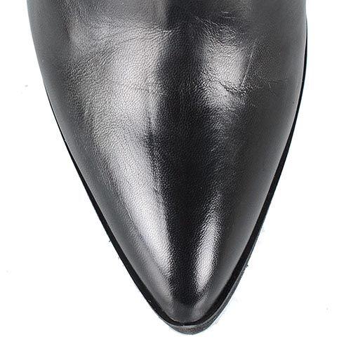 Черные кожаные сапоги Tosca Blu Nairobi на каблуке с зауженным носком, фото