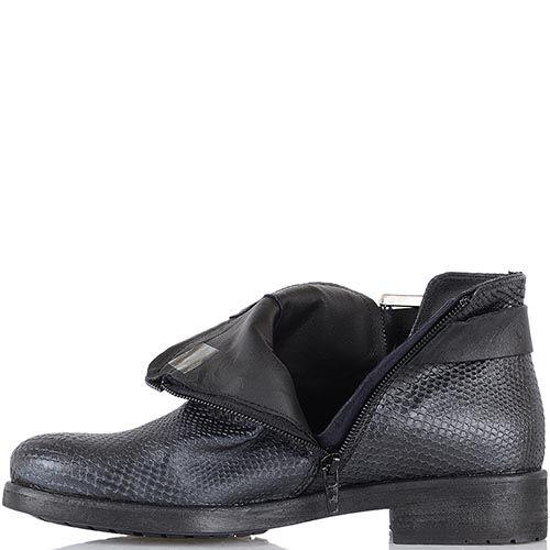 Женские ботинки Tosca Blu из натуральной кожи с имитацией кожи питона, фото