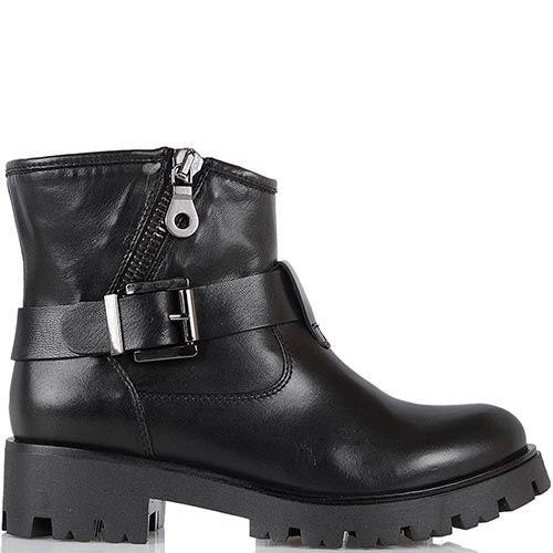 Ботинки Tosca Blu черного цвета на протекторной подошве, фото