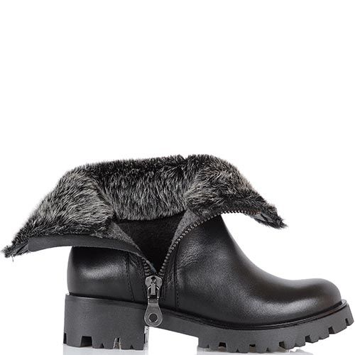 Ботинки зимние Tosca Blu утепленные на массивном каблуке, фото