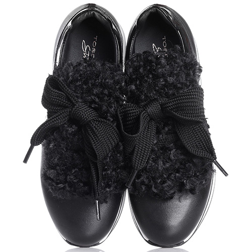 Кроссовки Tosca Blu черного цвета на платформе, фото
