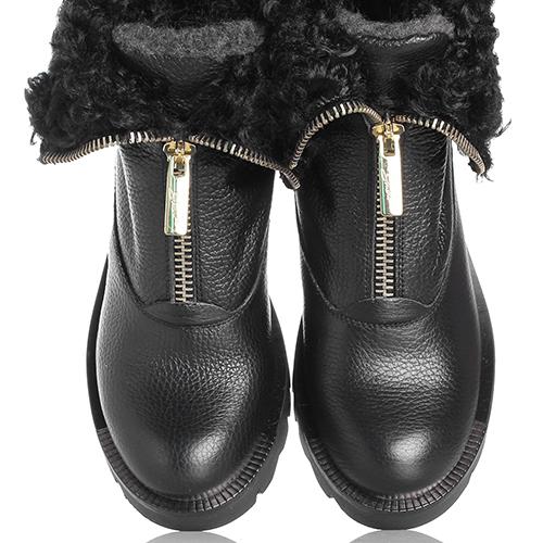 Ботинки Tosca Blu черного цвета на молнии , фото