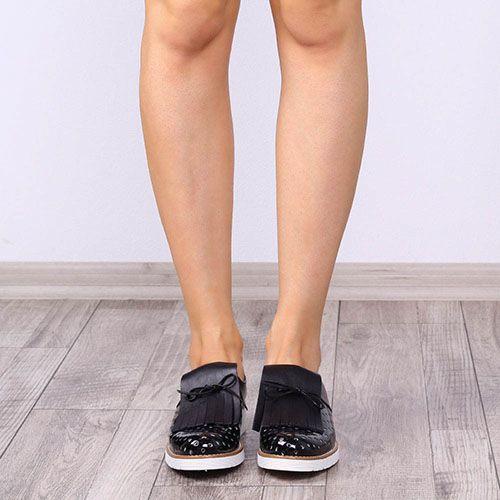 Туфли-броги Tosca Blu с лаковым перфорированным носиком, фото