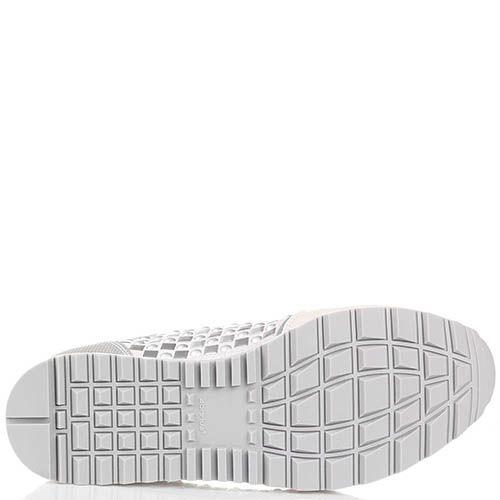 Белые кроссовки Tosca Blu с декором в виде металлических заклепок, фото