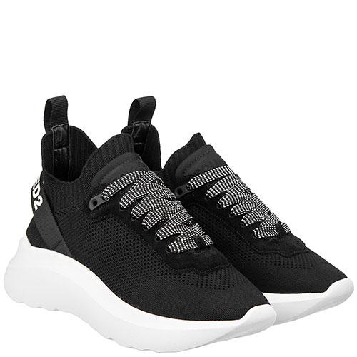 Черные кроссовки Dsquared2 на толстой подошве, фото