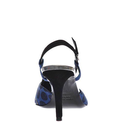 Босоножки Marino Fabiani синего цвета с закрытым носочком, фото