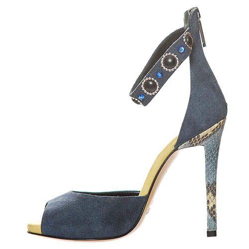 Замшевые босоножки Marino Fabiani синего цвета, фото