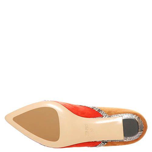 Замшевые туфли Marino Fabiani с низким каблуком, фото