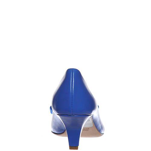 Туфли Marino Fabiani насыщенно-синего цвета на низком каблуке, фото
