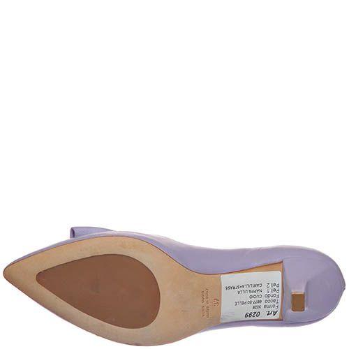 Туфли Marino Fabiani сиреневого цвета на низком каблуке, фото