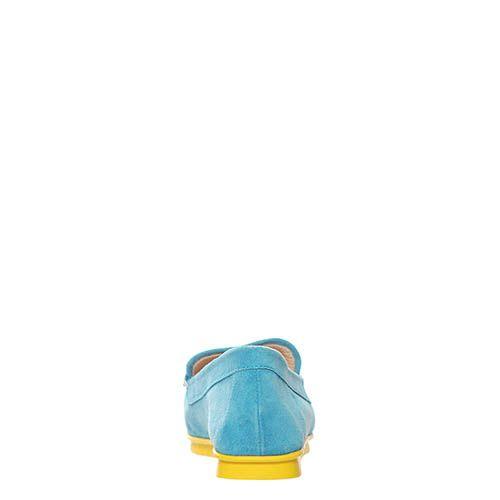 Лоферы Marino Fabiani замшевые голубого цвета, фото