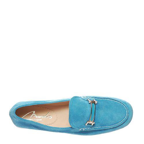 Замшевые лоферы Marino Fabiani голубого цвета, фото
