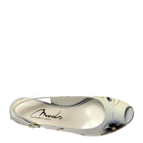 Кожаные босоножки Marino Fabiani серого цвета с открытым носочком, фото