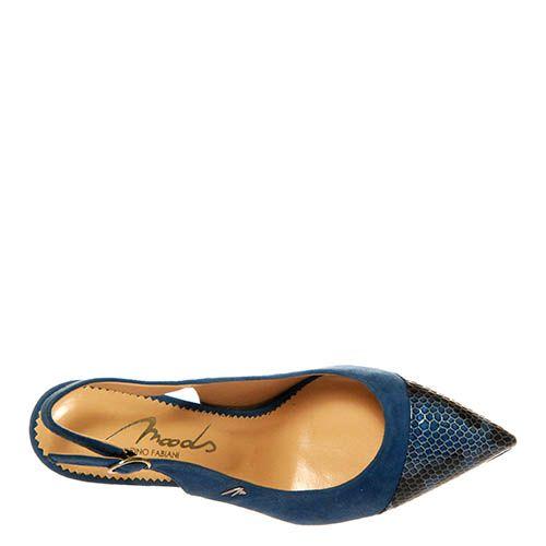 Босоножки Marino Fabiani из кожи синего цвета, фото