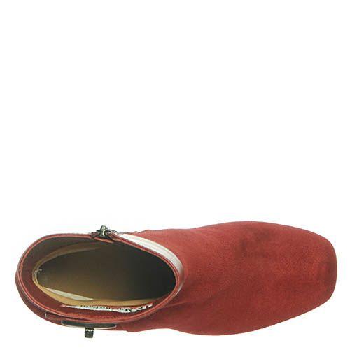 Замшевые ботинки Marino Fabiani бордового цвета, фото