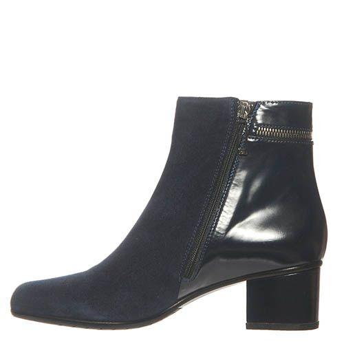 Замшевые ботинки Marino Fabiani темно-синие, фото