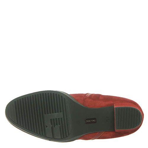 Замшевые ботинки Marino Fabiani красного цвета, фото