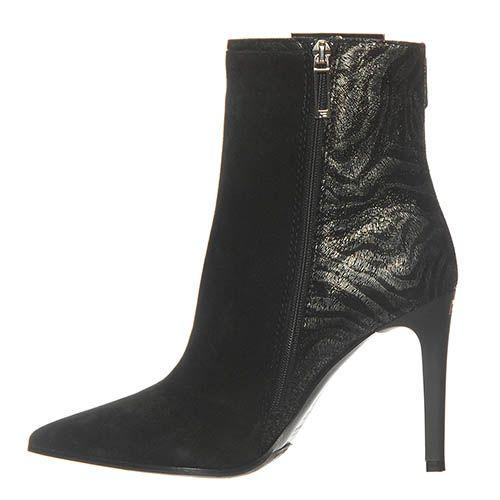 Демисезонные замшевые ботинки Marino Fabiani черного цвета, фото