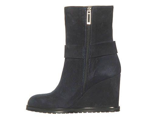 Демисезонные замшевые ботинки Marino Fabiani темно-синие, фото
