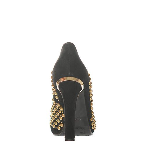 Замшевые туфли Marino Fabiani черного цвета, фото