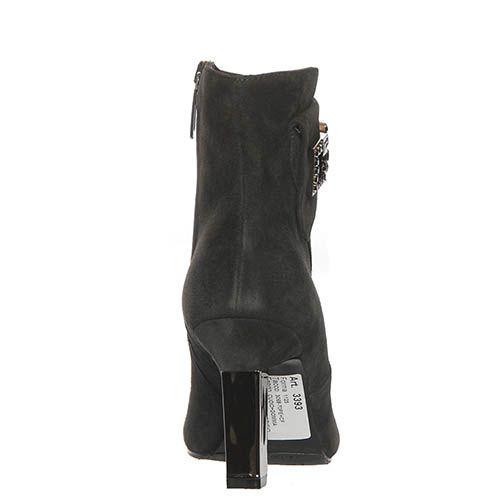 Замшевые демисезонные ботинки Marino Fabiani черного цвета, фото
