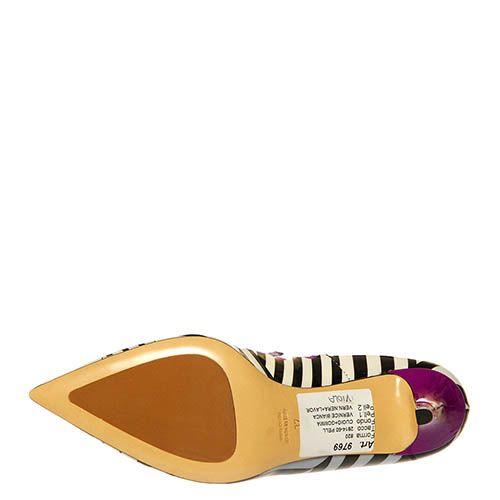 Кожаные туфли Marino Fabiani черно-фиолетовые, фото