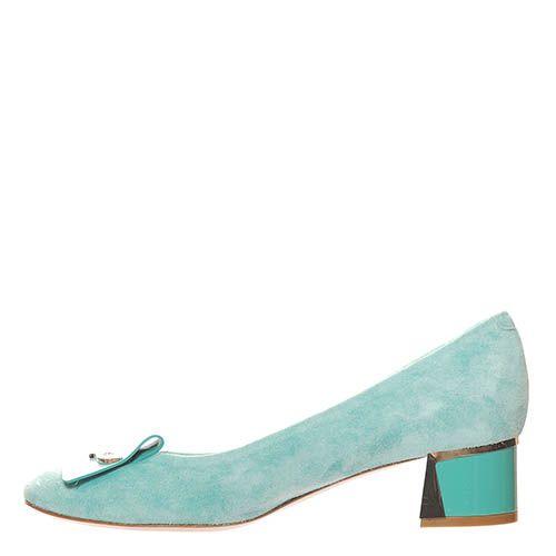 Замшевые туфли Giorgio Fabiani бирюзового цвета, фото