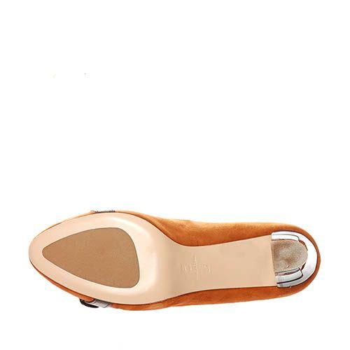 Замшевые туфли Giorgio Fabiani горчичного цвета, фото