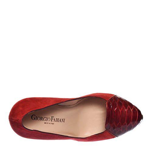 Замшевые туфли Giorgio Fabiani бордового цвета, фото